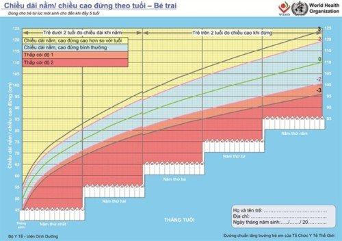 Hướng dẫn cách chấm biểu đồ tăng trưởng của trẻ mầm non