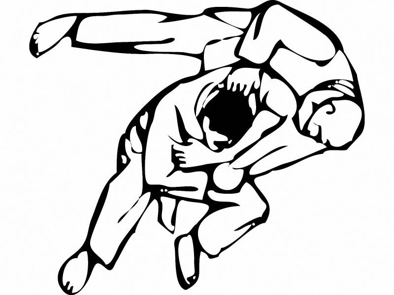 Rèn luyện sức khỏe bằng những bài tập Judo.