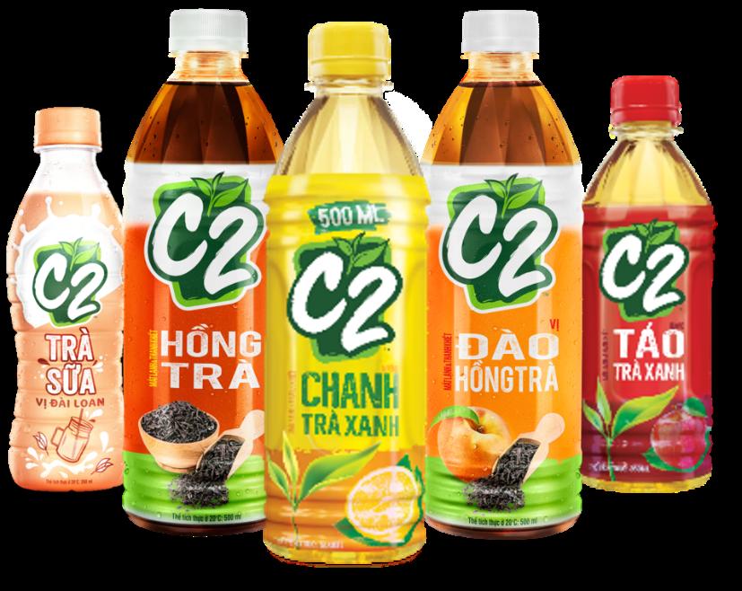 Trà xanh C2 được chế biến từ trà xanh Thái Nguyên nguyên chất