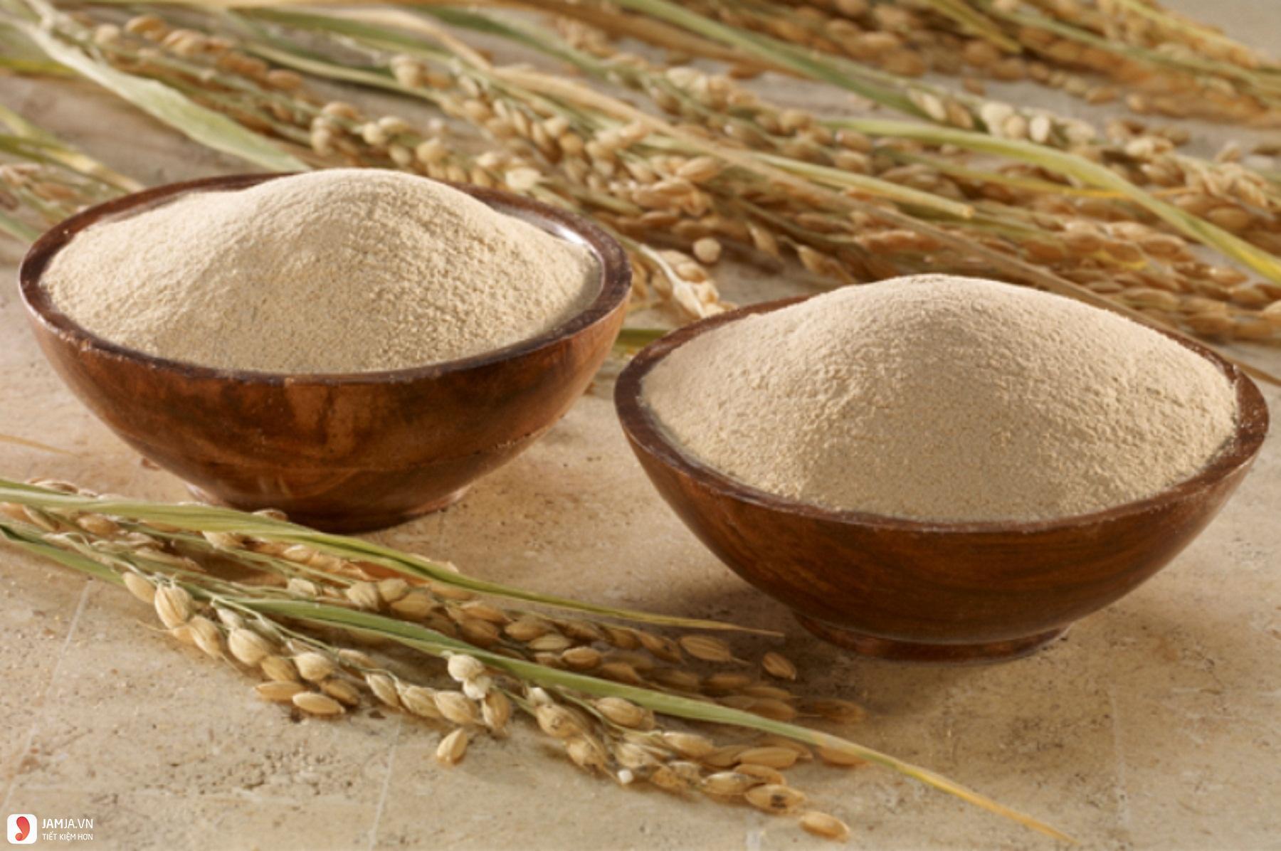 Tác dụng tuyệt vời của bột cám gạo trong làm đẹp